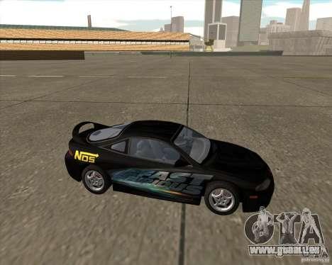 Mitsubishi Eclipse TPS de NFS Carbon pour GTA San Andreas sur la vue arrière gauche