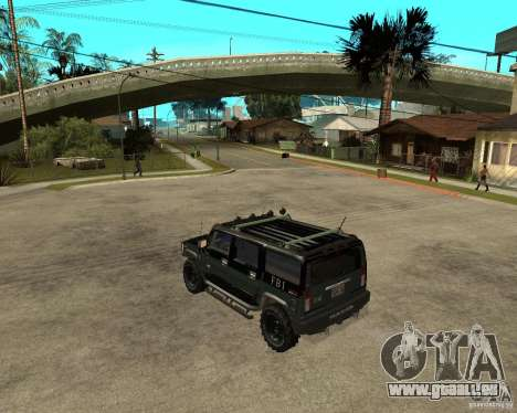 FBI Hummer H2 für GTA San Andreas rechten Ansicht