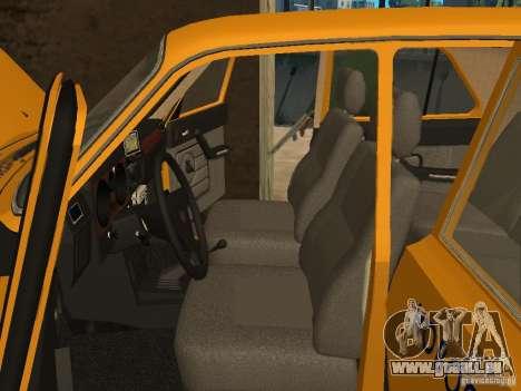 Taxi GAZ 31029 pour GTA San Andreas vue intérieure