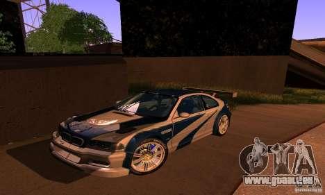BMW M3 GTR pour GTA San Andreas