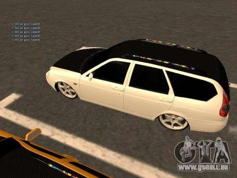 Lada Priora berline avec hayon arrière pour GTA San Andreas vue arrière