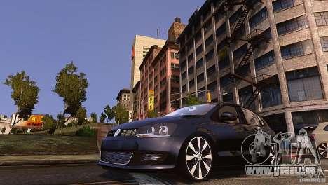 Volkswagen Polo pour GTA 4 Vue arrière de la gauche