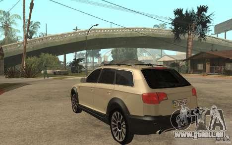 Audi Allroad Quattro pour GTA San Andreas sur la vue arrière gauche