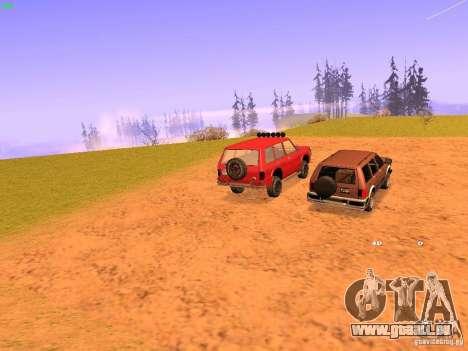 Huntley Superior pour GTA San Andreas sur la vue arrière gauche