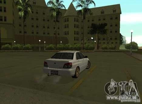Subaru Impreza WRX STI-Street Racing für GTA San Andreas rechten Ansicht