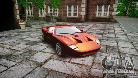 Ford GT für GTA 4 Rückansicht