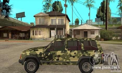 Jeep Cherokee 1984 pour GTA San Andreas laissé vue
