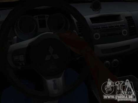 Mitsubishi Lancer Evo X für GTA San Andreas Rückansicht