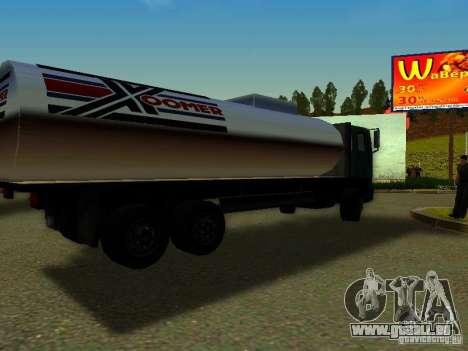 DFT-30 c réservoir pour GTA San Andreas laissé vue