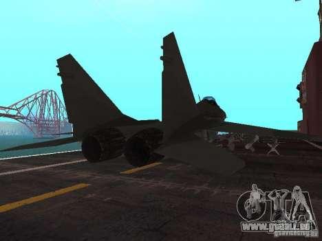 MIG-29 de la COD MW2 pour GTA San Andreas sur la vue arrière gauche