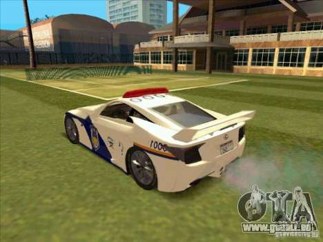 Lexus LF-A China Police für GTA San Andreas linke Ansicht