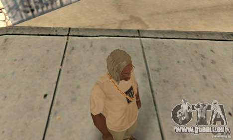 Longs cheveux blonds pour GTA San Andreas troisième écran