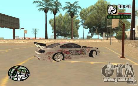 Nissan 150SX pour GTA San Andreas laissé vue