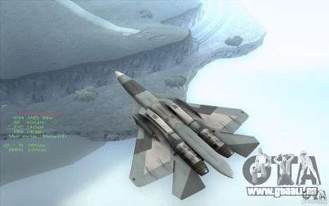 SU t-50 Pak FA für GTA San Andreas zurück linke Ansicht