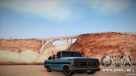 Ford F100 XLT Custom 1971 pour GTA San Andreas