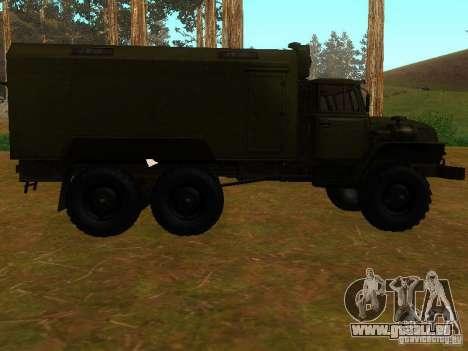 Ural 4320 Kung für GTA San Andreas Rückansicht