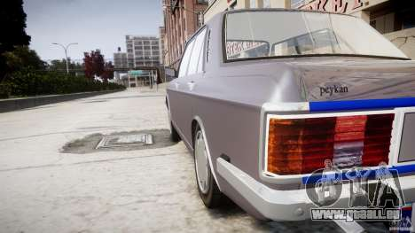 Peykan 1600i für GTA 4-Motor