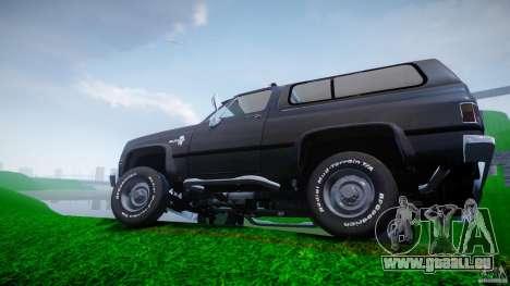 Chevrolet Blazer K5 Stock pour GTA 4 roues
