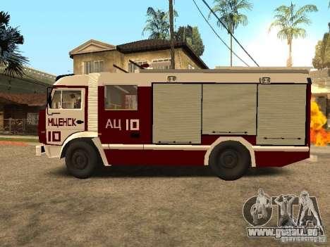 KAMAZ 43253 Rozenbauer pour GTA San Andreas laissé vue