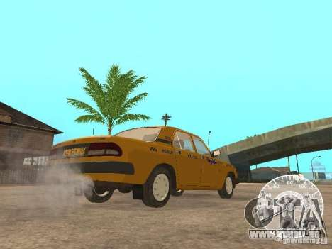GAZ 3110 Wolga taxi für GTA San Andreas Rückansicht