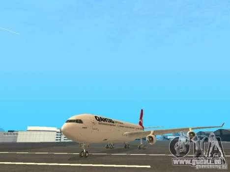 Airbus A340-300 Qantas Airlines für GTA San Andreas linke Ansicht