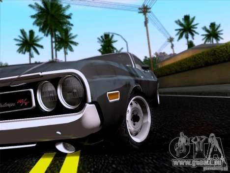 Dodge Challenger HEMI für GTA San Andreas rechten Ansicht