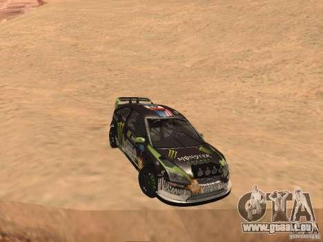 Ford Focus RS2000 v1.1 pour GTA San Andreas vue arrière