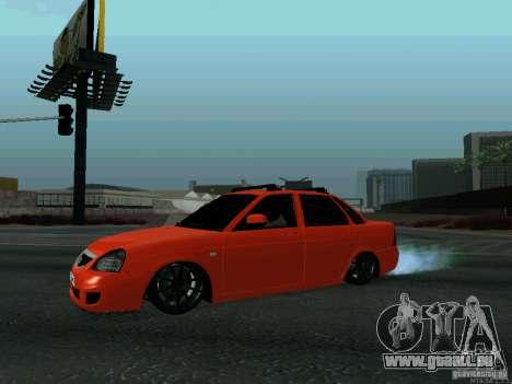 LADA 2170 102-RUS pour GTA San Andreas laissé vue