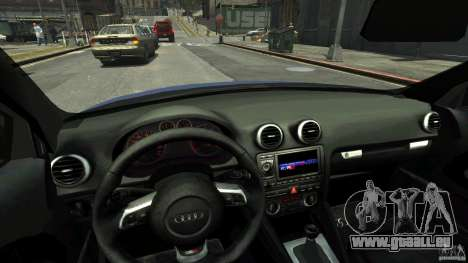 Audi S3 2006 v1.1 tonirovanaâ pour GTA 4 est une vue de l'intérieur
