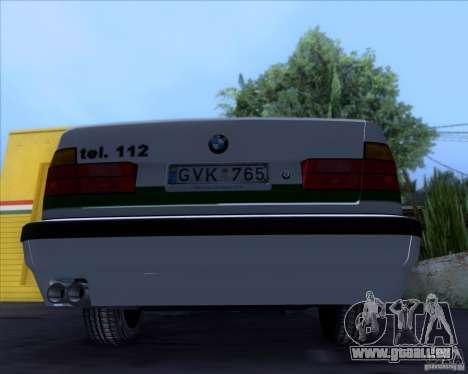 BMW E34 Policija für GTA San Andreas Rückansicht