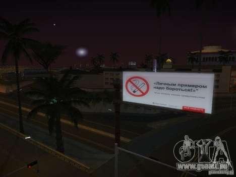 Nouvelles affiches autour de l'État pour GTA San Andreas cinquième écran