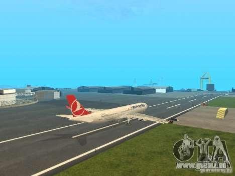 Airbus A330-300 Turkish Airlines pour GTA San Andreas vue de droite
