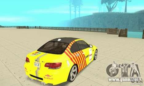 BMW M3 2008 pour GTA San Andreas moteur