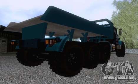 KrAZ 7140H essai 6 pour GTA San Andreas vue de droite