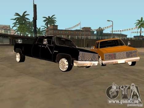 Chevrolet Silverado Lowrider für GTA San Andreas linke Ansicht