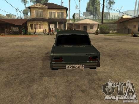 VAZ 2103 für GTA San Andreas zurück linke Ansicht