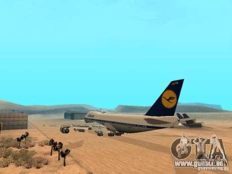 Boeing 747-100 Lufthansa für GTA San Andreas zurück linke Ansicht
