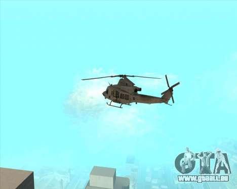 UH-1 Iroquois pour GTA San Andreas vue de droite