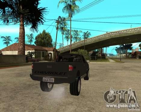 Chevrolet S-10 pour GTA San Andreas sur la vue arrière gauche