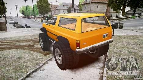 MonsterTruck pour GTA 4 Vue arrière de la gauche