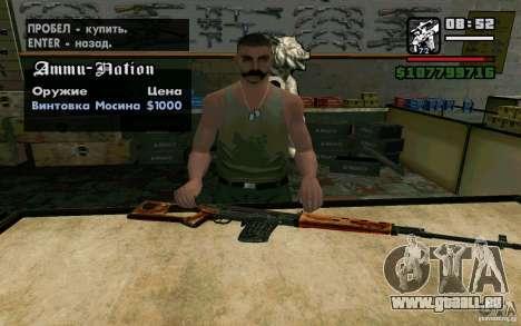 Dragunov sniper rifle v 2.0 pour GTA San Andreas deuxième écran