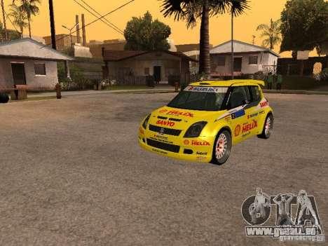 Suzuki Swift Rally für GTA San Andreas Rückansicht