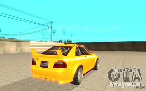 Sultan RS de GTA 4 pour GTA San Andreas sur la vue arrière gauche