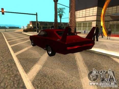 Dodge Charger Daytona Fast & Furious 6 für GTA San Andreas Rückansicht