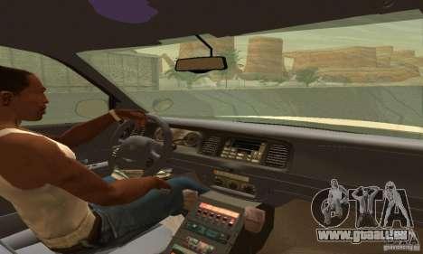 Ford Crown Victoria Utah Police pour GTA San Andreas sur la vue arrière gauche