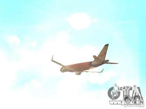 Embraer ERJ 190 Virgin Blue pour GTA San Andreas vue de côté