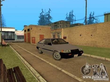 Toyota Corolla AE85 Levin GT-Apex pour GTA San Andreas sur la vue arrière gauche