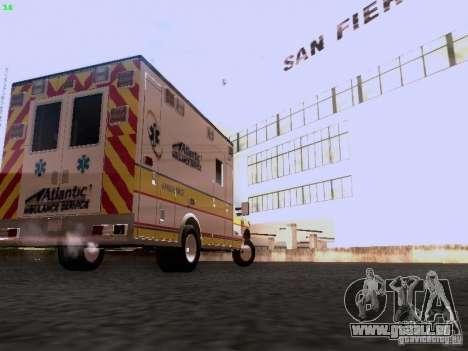 Ford F-350 Ambulance für GTA San Andreas zurück linke Ansicht