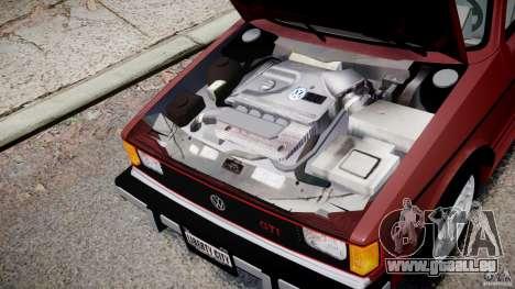 Volkswagen Rabbit 1986 pour GTA 4 est une vue de l'intérieur