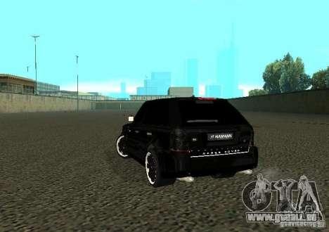 Land Rover Range Rover Sport Hamann pour GTA San Andreas sur la vue arrière gauche